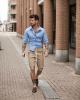 3 gợi ý phối quần short cùng áo sơ mi giúp chàng xuống phố tự tin